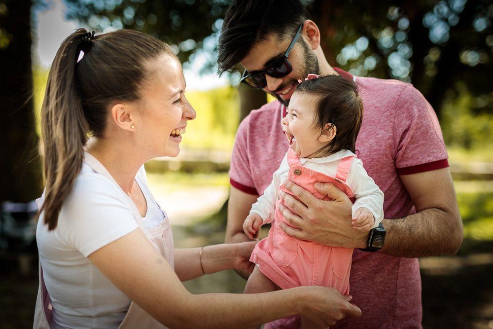 Retrato de família com mãe e pai e criança coimbra e condeixa