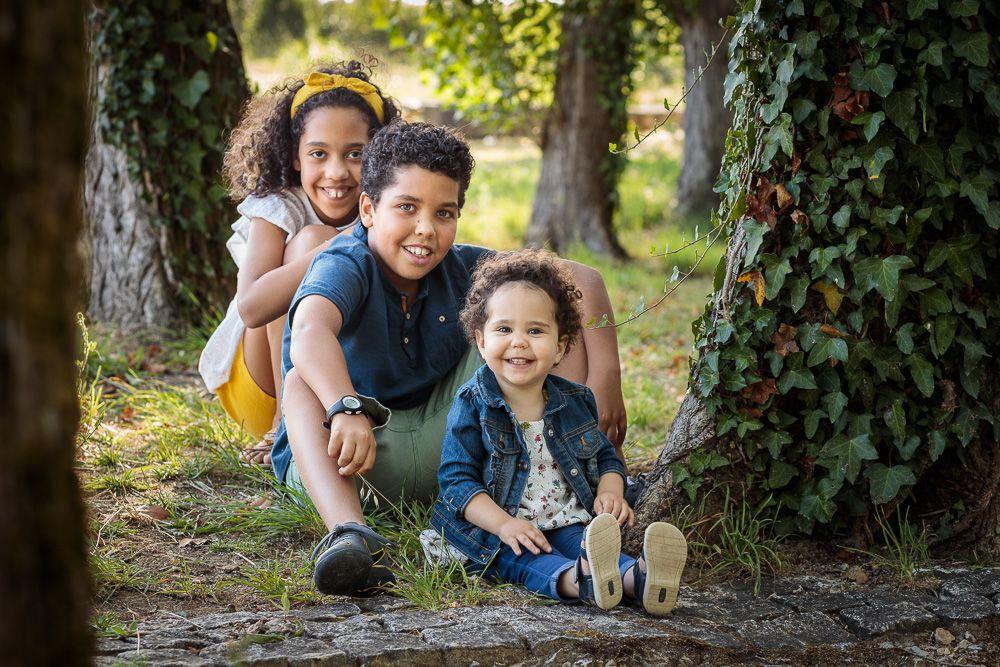 Fotografia de família com irmãos coimbra e condeixa